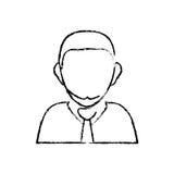 Businessman executive profile. Icon  illustration graphic design Stock Photography