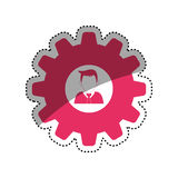 Businessman executive profile. Icon  illustration graphic design Stock Photos