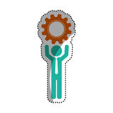 Businessman executive profile. Icon  illustration graphic design Royalty Free Stock Photos