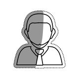 Businessman executive profile. Icon  illustration graphic design Stock Images