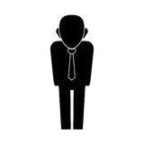 Businessman executive profile Royalty Free Stock Image