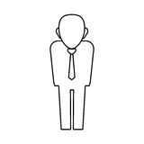 Businessman executive profile Royalty Free Stock Photo