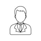 Businessman executive profile Stock Photos