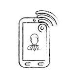 Businessman executive profile Stock Images