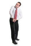 Businessman Exercises Royalty Free Stock Photo