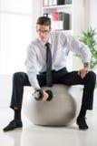 Businessman Exercising Royalty Free Stock Image