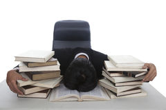 Businessman exhausted Royalty Free Stock Photos