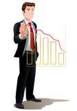 Businessman explain profit of business on office chart Stock Images