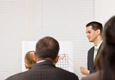Businessman explaining chart Royalty Free Stock Image