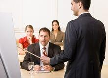 Businessman explaining chart Stock Photography