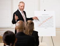 Businessman explaining financial analysis chart Stock Photography