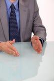 Businessman explaining his  strategy Royalty Free Stock Image