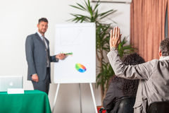 Businessman Explaining Plans Stock Image