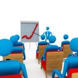 Businessman explaining progress on graph. Stock Images