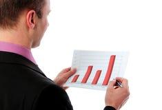 Businessman explains chart Stock Images