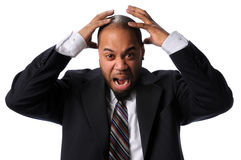 Businessman Expressing Frustration Stock Photography