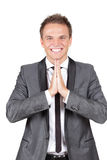 Businessman expressing his gratitude in prayer Stock Image