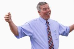 Businessman expressing joy. Royalty Free Stock Photos