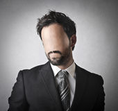 Businessman without an expression Stock Image