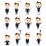 Businessman Expression Icons Stock Photo