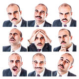 Businessman expressions royalty free stock images