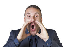 Businessman expressions stock image