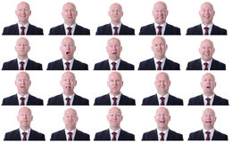 Businessman expressions Royalty Free Stock Image