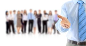 Businessman extending hand Royalty Free Stock Image