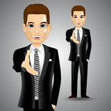 Businessman extending right hand for handshake Stock Images