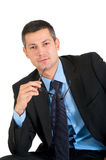 Businessman with eyeglasses Royalty Free Stock Photography