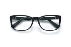 Businessman eyeglasses. Black frame eyeglasses isolated on white background Royalty Free Stock Photography