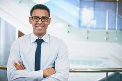 Businessman in eyeglasses Stock Photos