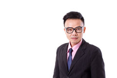 Businessman with eyeglasses looking at you Stock Photography