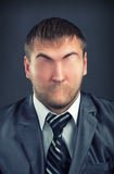 Businessman without face Stock Images