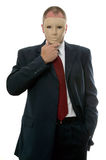 Businessman face mask Royalty Free Stock Photo