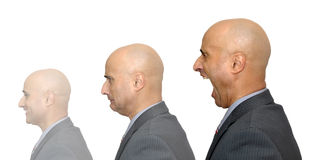 Businessman faces Stock Photography