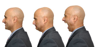 Businessman faces Stock Photo
