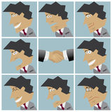 Businessman facial emotions Royalty Free Stock Photo