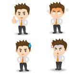 Businessman facial expressions Stock Image