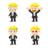 Businessman facial expressions Royalty Free Stock Photos