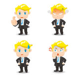 Businessman facial expressions Royalty Free Stock Photography