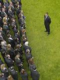Businessman Facing Group Of Executives Stock Photos