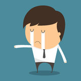 Businessman Fail and crying Stock Photography