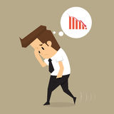 Businessman fail. Businessman garph fail Stock Photography