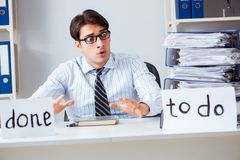 The businessman failing to deliver his to-do list Stock Image