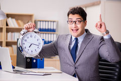 The businessman failing to meet the deadlines Royalty Free Stock Photography