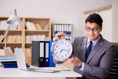 The businessman failing to meet the deadlines Stock Photography