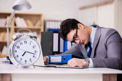 The businessman failing to meet the deadlines Stock Photos