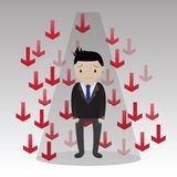 Businessman failure Concept Royalty Free Stock Photography