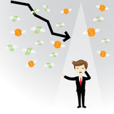 Businessman failure finance Stock Images